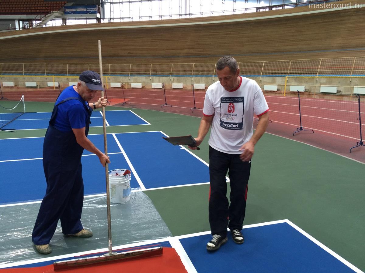 Ремонт теннисного покрытия Тарафлекс (Taraflex)