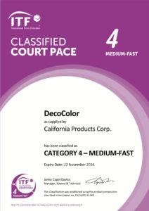 Сертификат ITF4 MEDIUM FAST