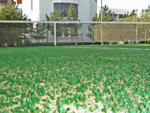 Готовая трава с песком вблизи.